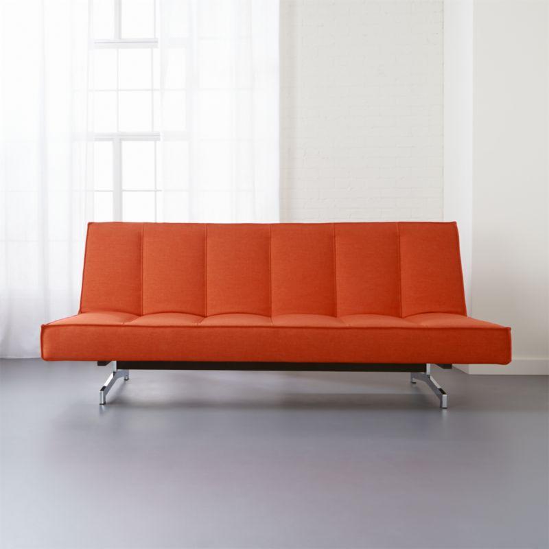 Delightful Flex Orange Sleeper Sofa | CB2