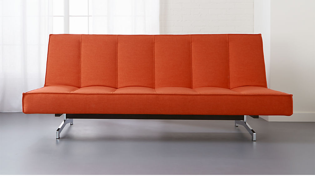Orange sofa bed flex orange sleeper sofa cb2 thesofa for Sofa orange