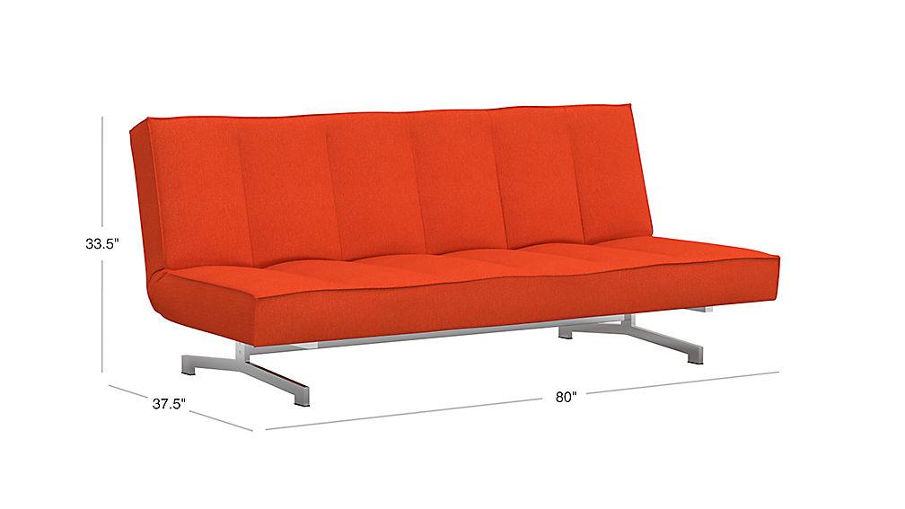 Flex Orange Sleeper Sofa Cb2