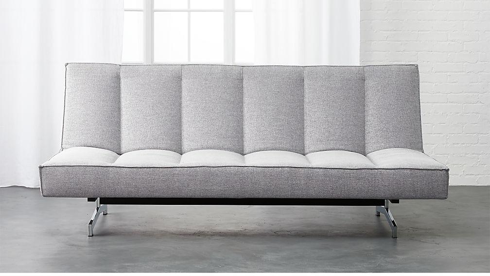 Flex Microgrid Grey Sleeper Sofa In Sofas Reviews Cb2