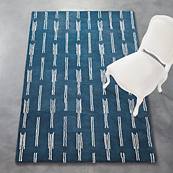 flight blue rug