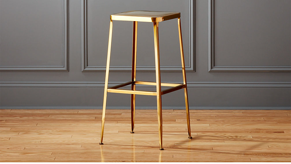 Flint Gold 30 Quot Bar Stool Reviews Cb2
