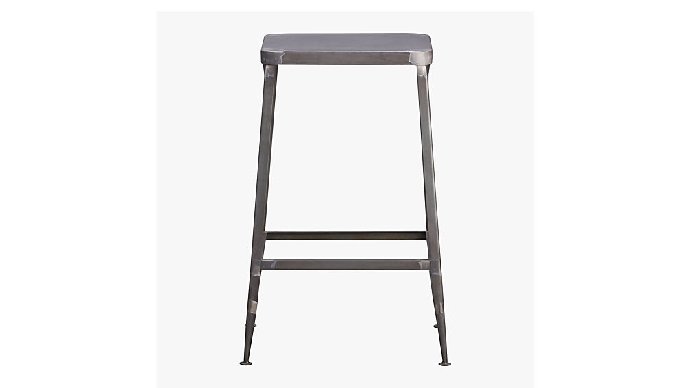 Flint Steel Bar Stools | CB2
