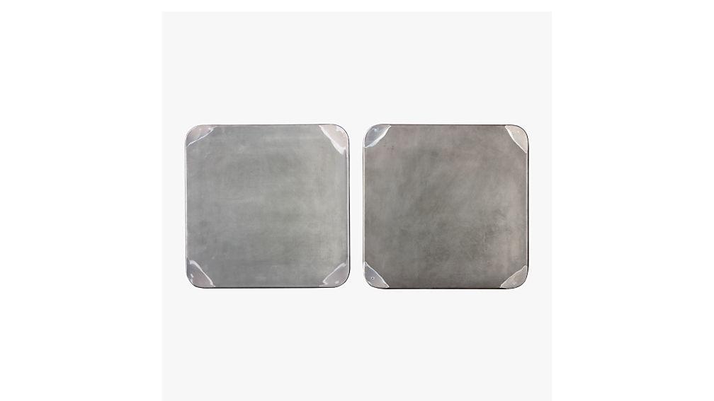 "flint shiny steel 18"" stool"