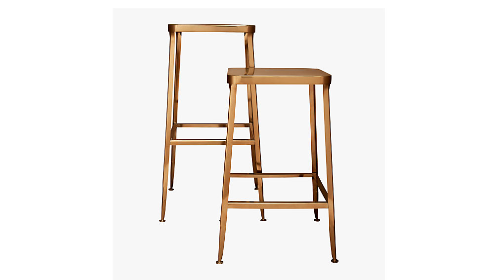 Flint Gold 30 Quot Bar Stool Cb2