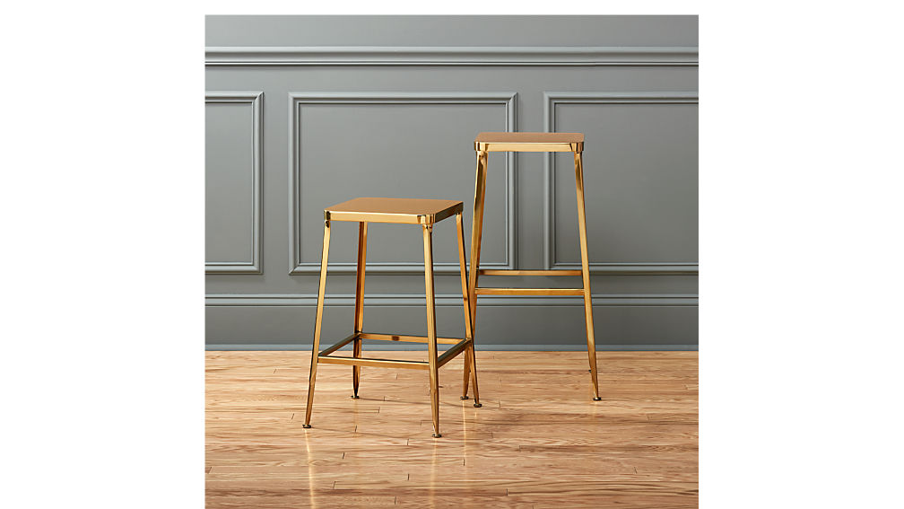 Flint Gold 24 Quot Counter Stool Cb2
