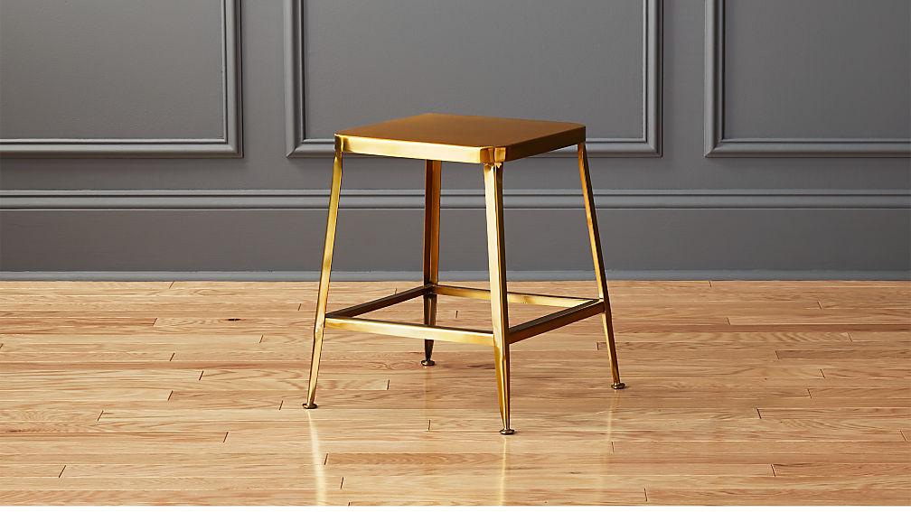 """flint shiny gold 18"""" stool"""