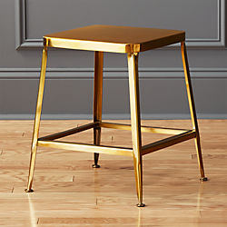 "flint shiny gold 18"" stool"