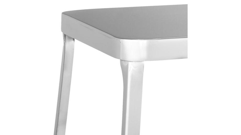 "flint shiny silver 30 "" bar stool"