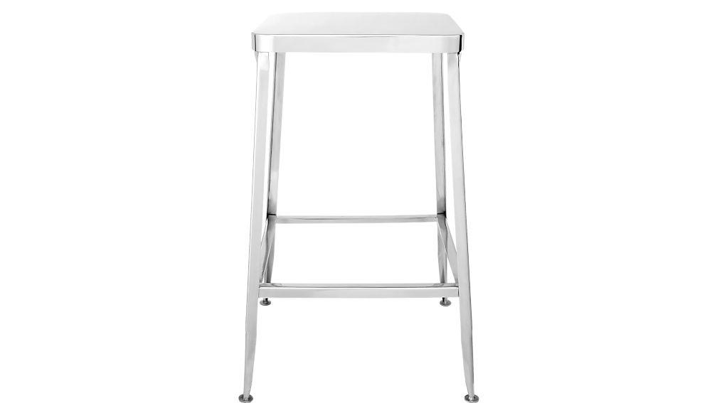 """flint shiny silver 24"""" counter stool"""