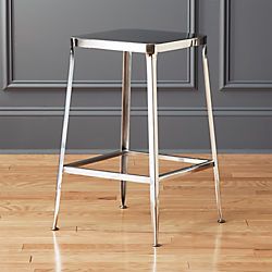 "flint shiny silver 24"" counter stool"