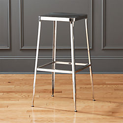 "flint shiny silver 30 "" bar stool"