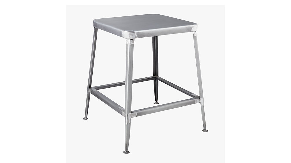 Flint Shiny Steel 18 Quot Stool Cb2