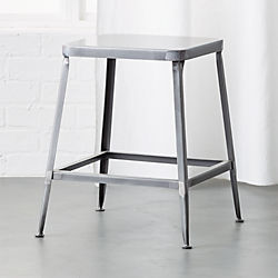 "flint shiny steel 18"" stool"