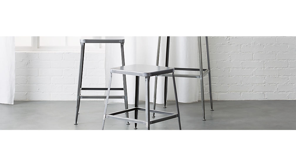 - Flint Steel Bar Stools CB2