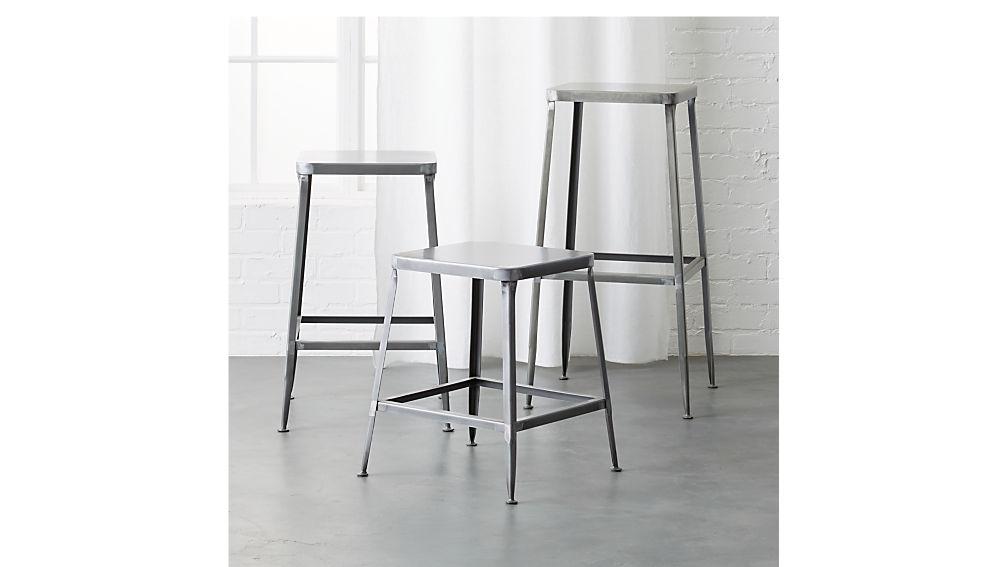 "flint steel 24"" counter stool"
