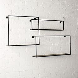 set of 3 floating shelves
