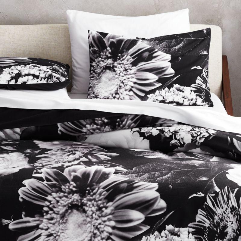 Black And White Duvet Covers Onyx And White Stripe Duvet