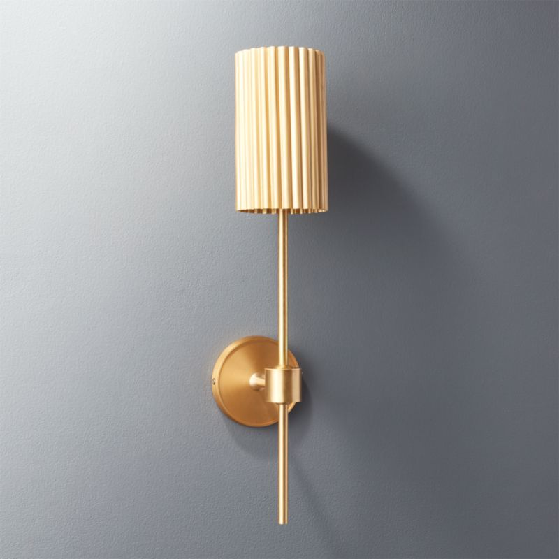 Genial Fluted Gold Wall Sconce | CB2
