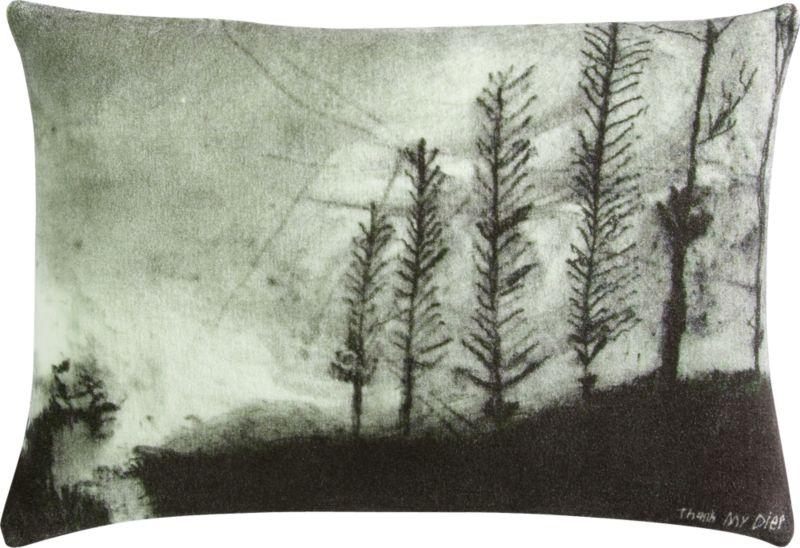 """foggy landscape 18""""x12"""" pillow"""