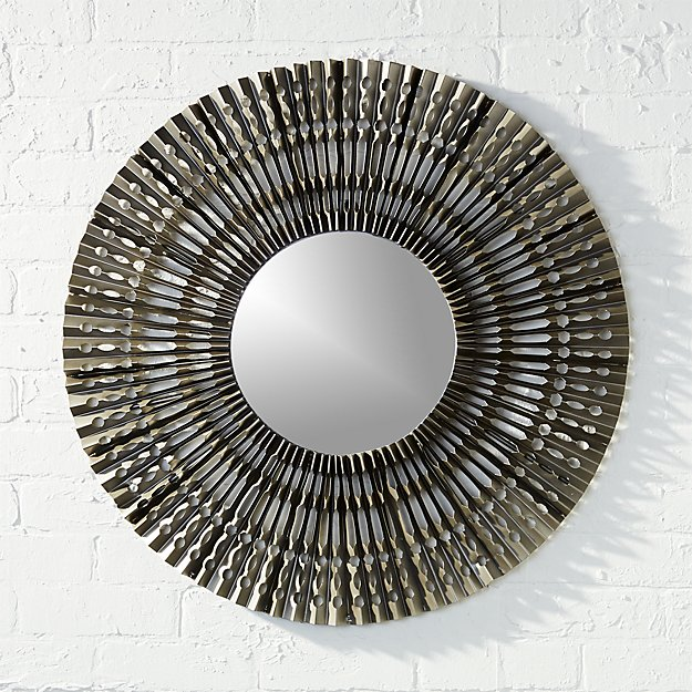 folded metal wall mirror