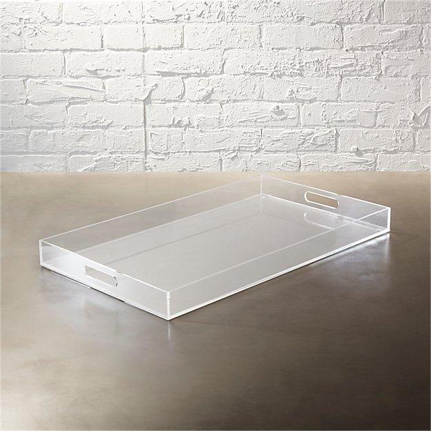 Acrylic Clear Rectangular Tray Cb2