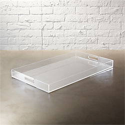 acrylic clear rectangular tray
