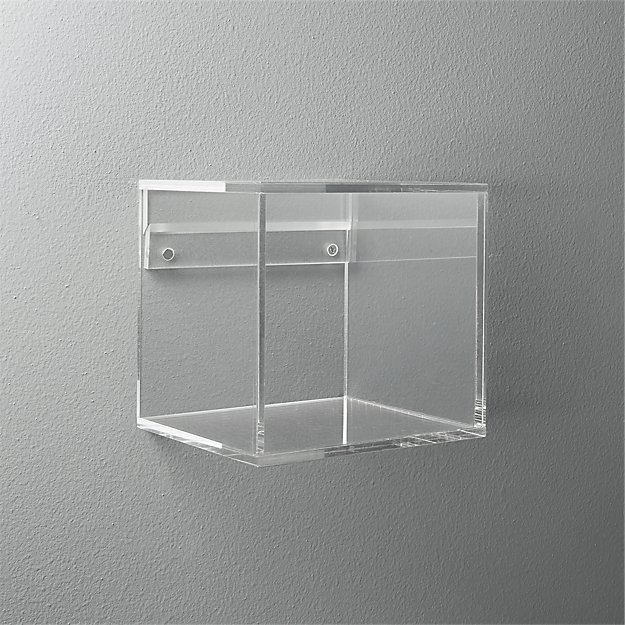 format acrylic cube shelf cb2. Black Bedroom Furniture Sets. Home Design Ideas