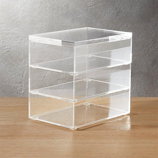acrylic stacking boxes set of 3
