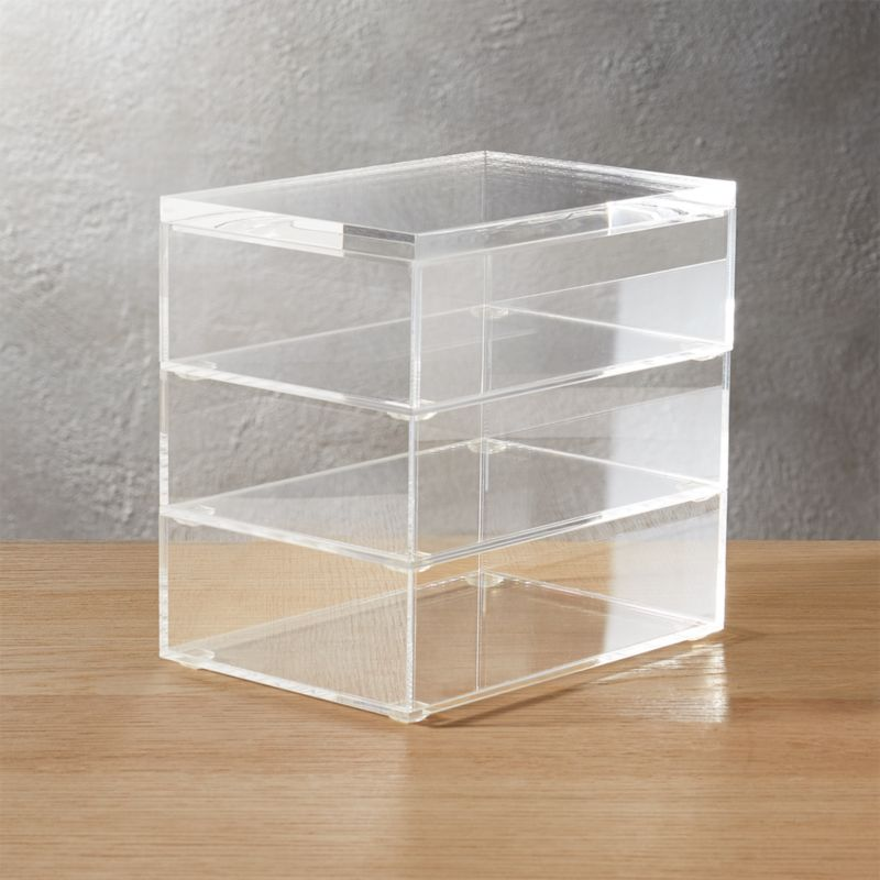 "<span class=""copyHeader"">clean your desk.</span> Or anywhere you have stuff. Crystal clean acrylic desk accessory organizes in not-so-plain sight.<br /><br /><NEWTAG/><ul><li>Clear acrylic</li><li>Clean with dry cloth</li></ul><br />"
