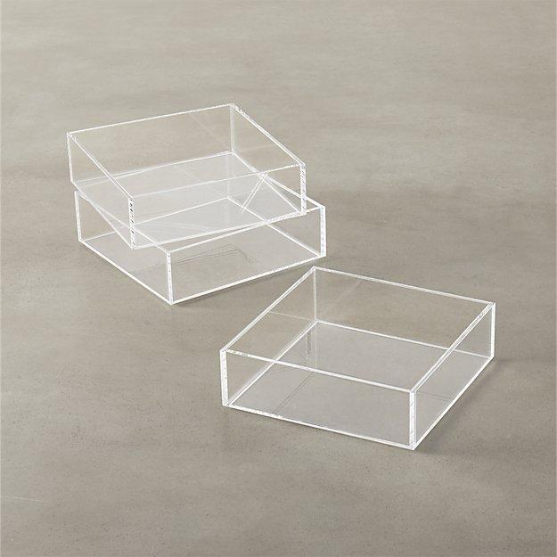 acrylic stacking tray