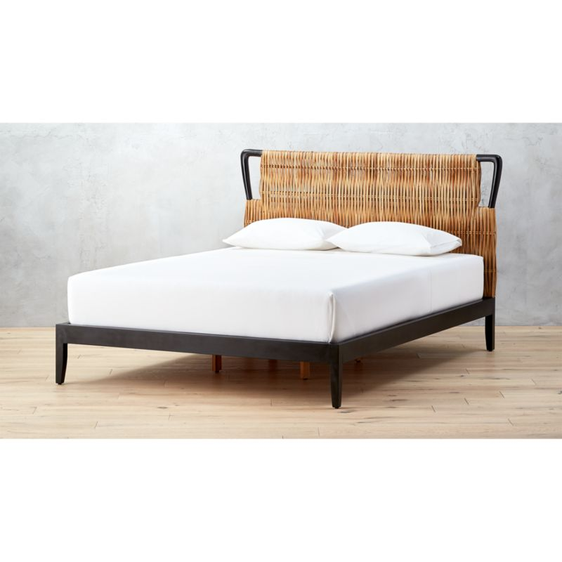 Formentera rattan bed cb2 for Bedroom sets without bed