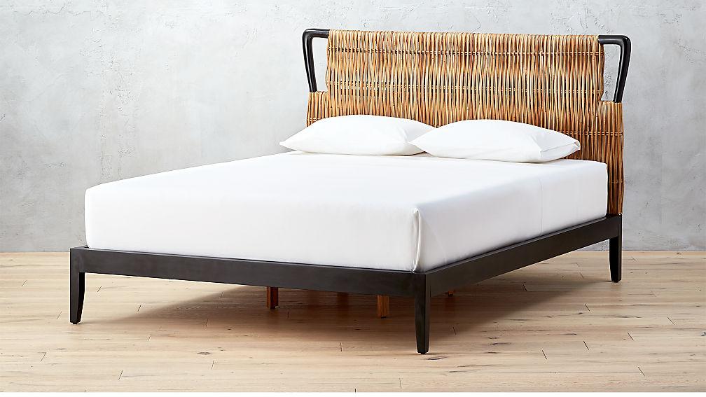 Formentera Rattan Queen Bed Reviews Cb2