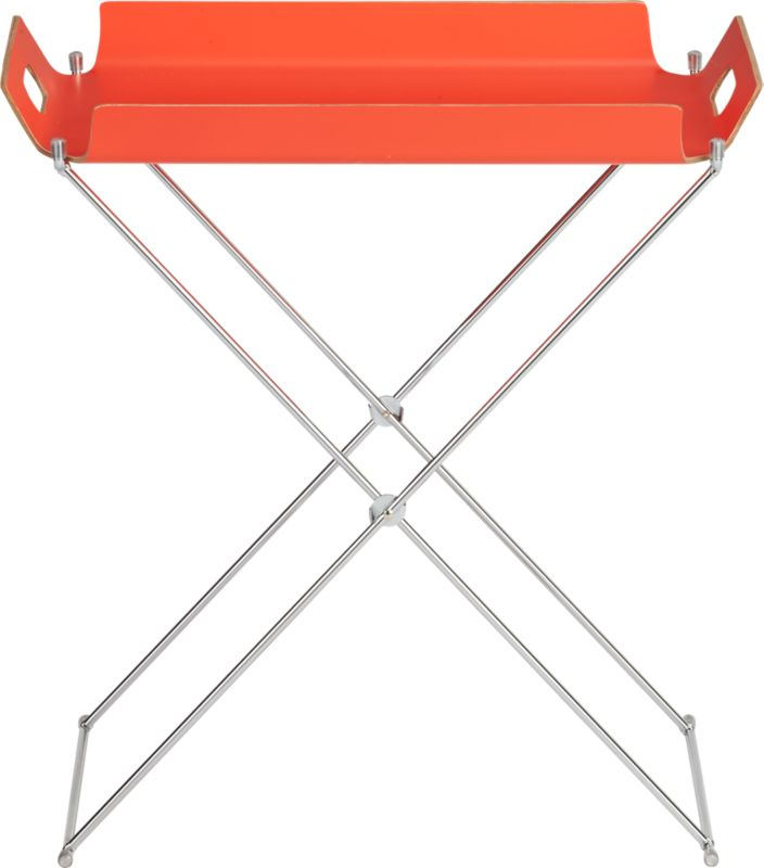 formosa bright red tray table