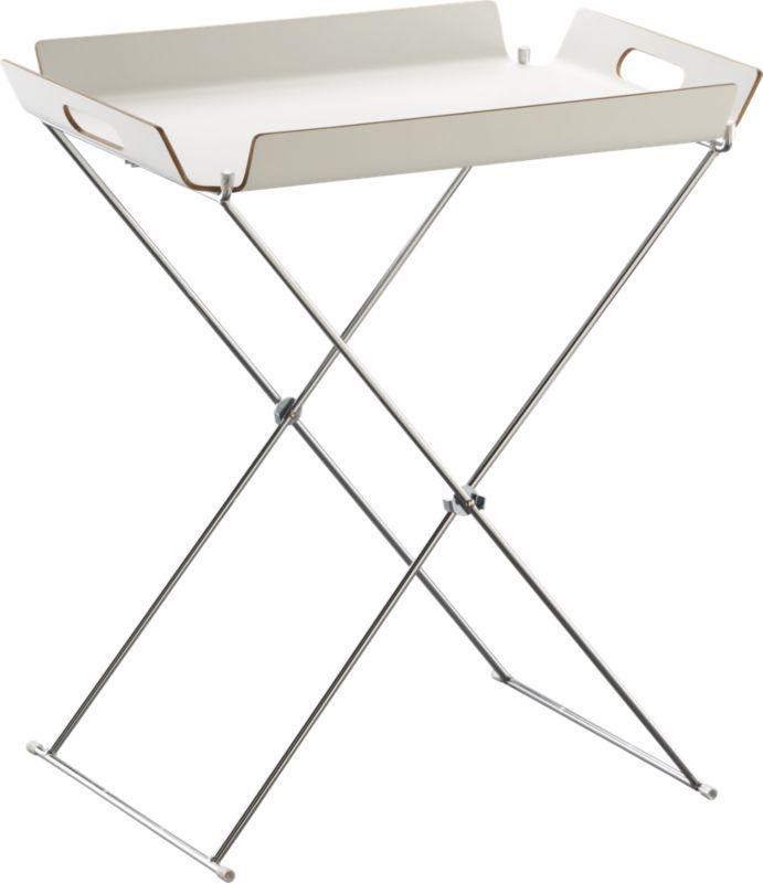 formosa white tray table