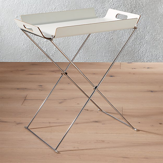 formosa white tray table