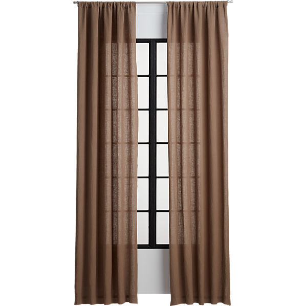 FrBelgianLinenCurtainPanelTaupe120InF16