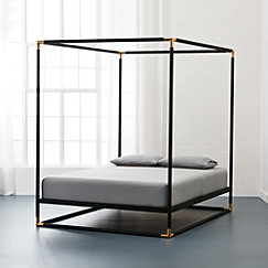 Frame Canopy Queen Bed Mattress Sold Separately