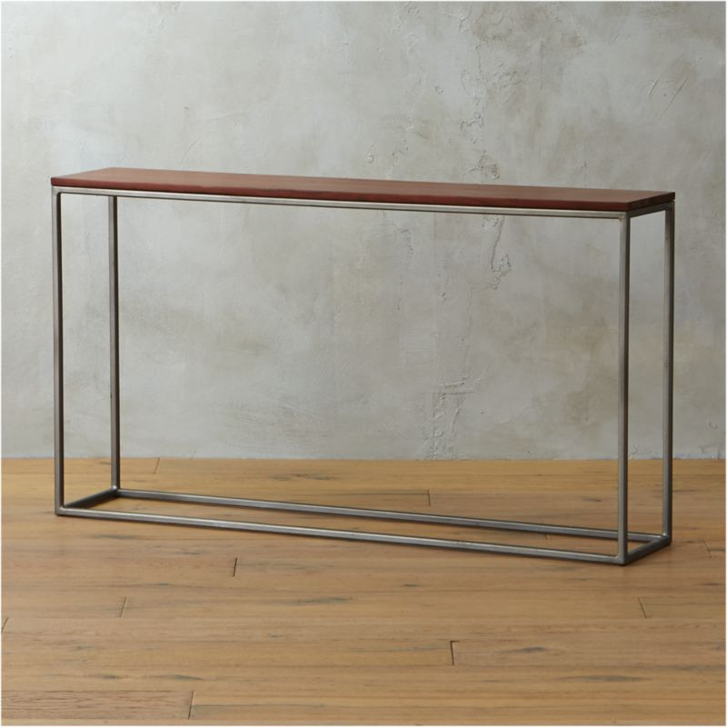 Awesome Framework Iron And Wood Console Table | CB2