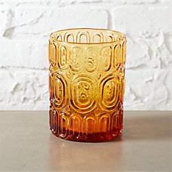 frankie amber double old-fashioned glass