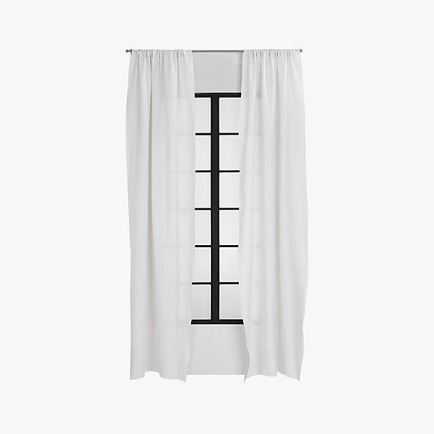 silver grey linen curtain panel