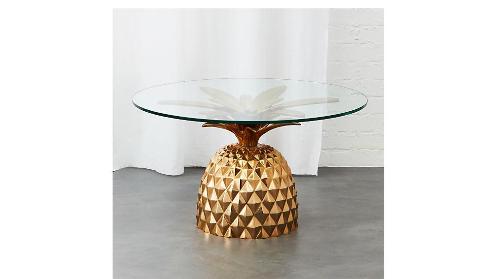 Fresh Cut Pineapple Table Reviews Cb2