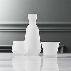 3-piece frosted sake set