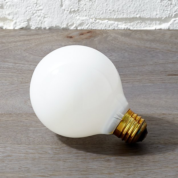 Frosted 40w light bulb cb2 aloadofball Image collections
