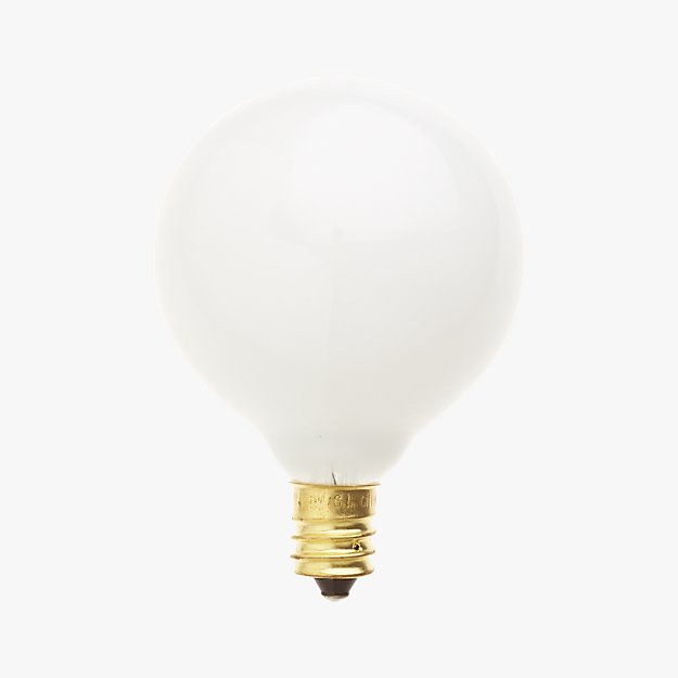 frosted candelabra 25w bulb in light bulbs reviews cb2. Black Bedroom Furniture Sets. Home Design Ideas
