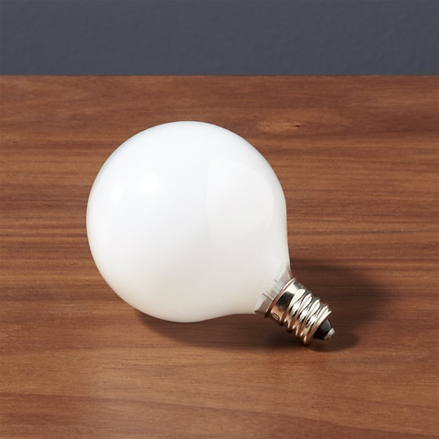 frosted candelabra 25W bulb CB2