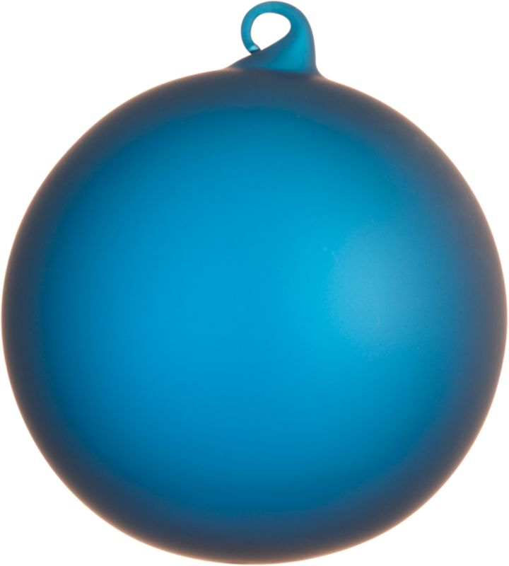 frosted blue ornament