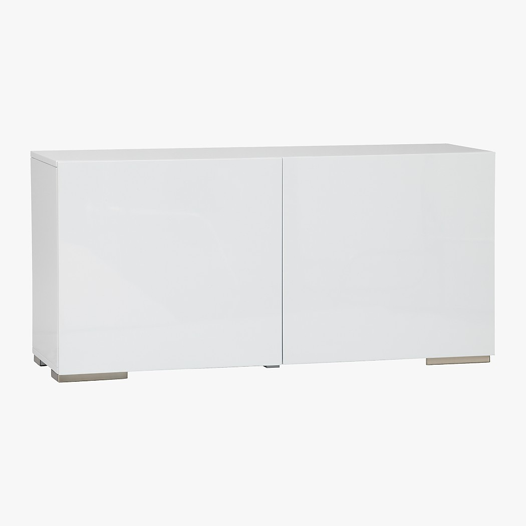 fuel white high gloss credenza  cb - tap to zoom fuelcredenzawhiteavs