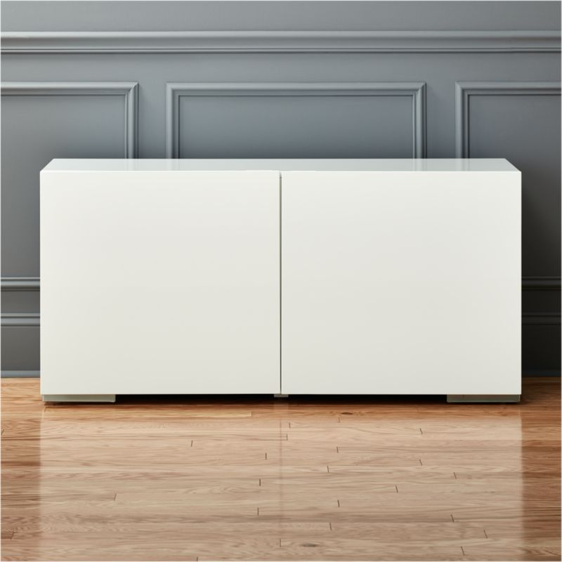 Fuel White Credenza Reviews Cb2