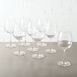 set of 8 fulton red wine glasses